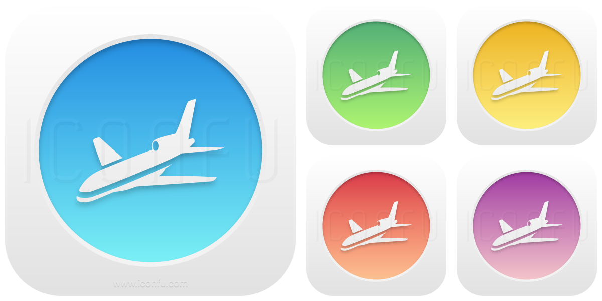 Airplane Incoming Icon