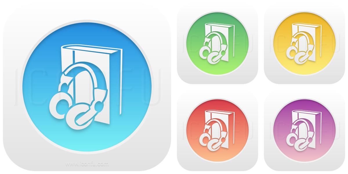 Book Headphones Icon