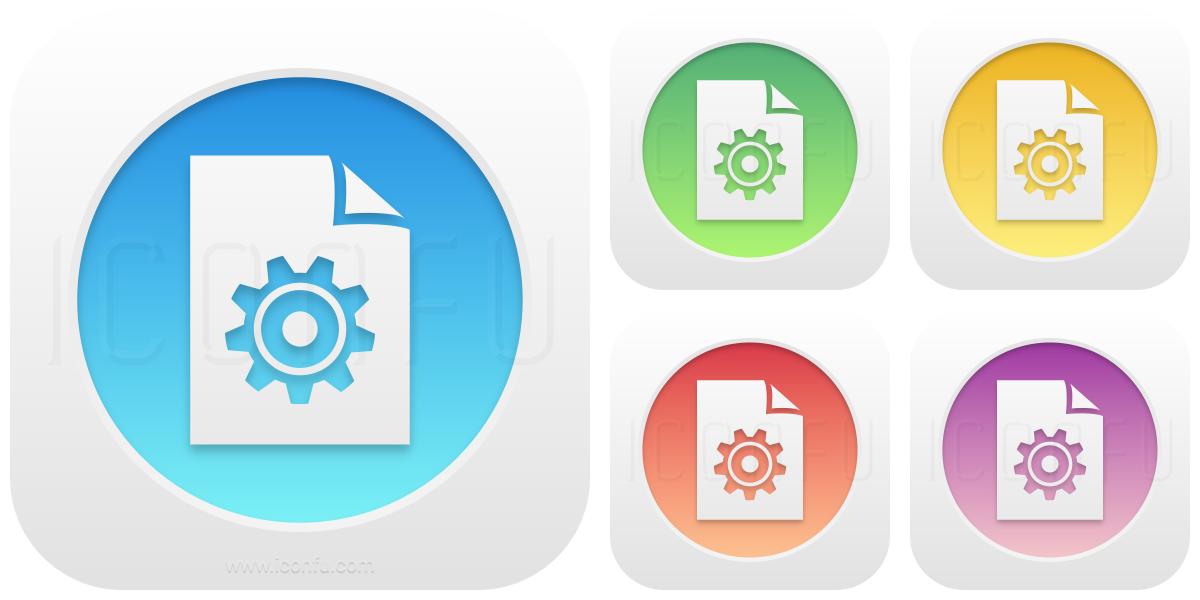 Document Gear Icon