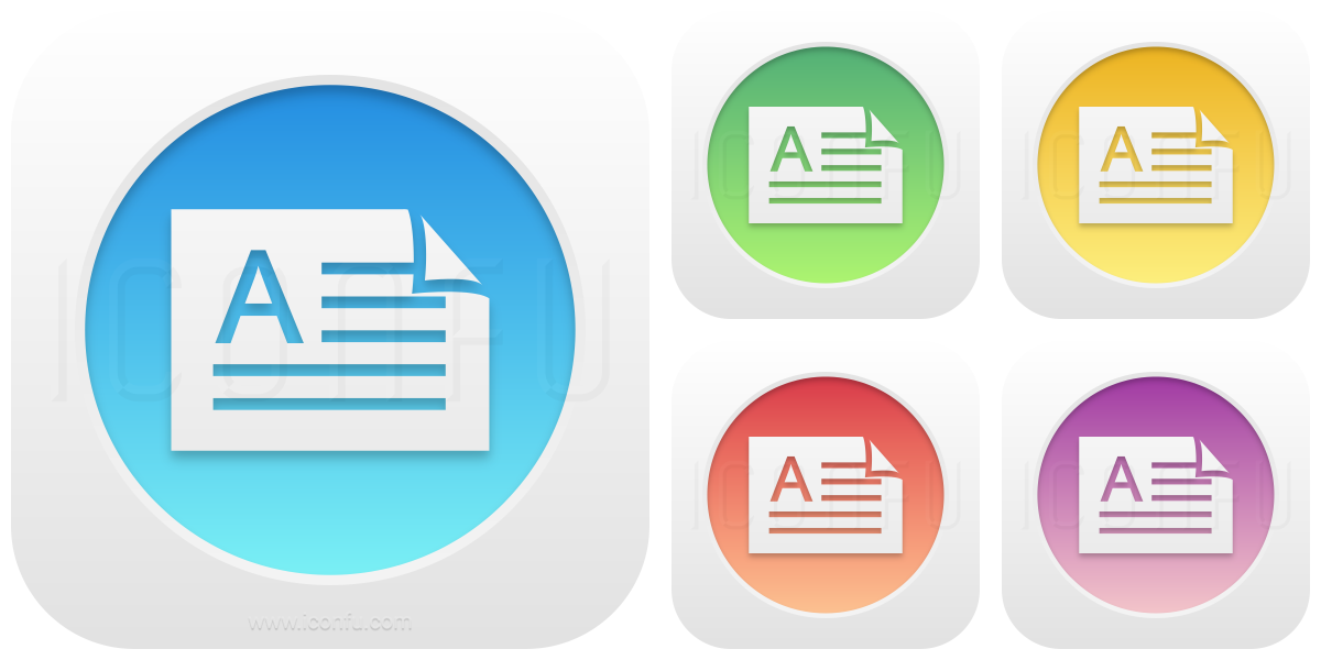 Document Orientation Landscape Icon