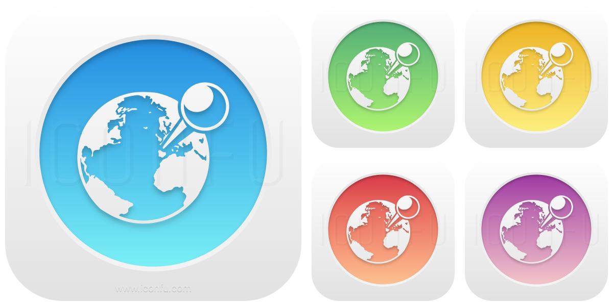 Earth Location Icon