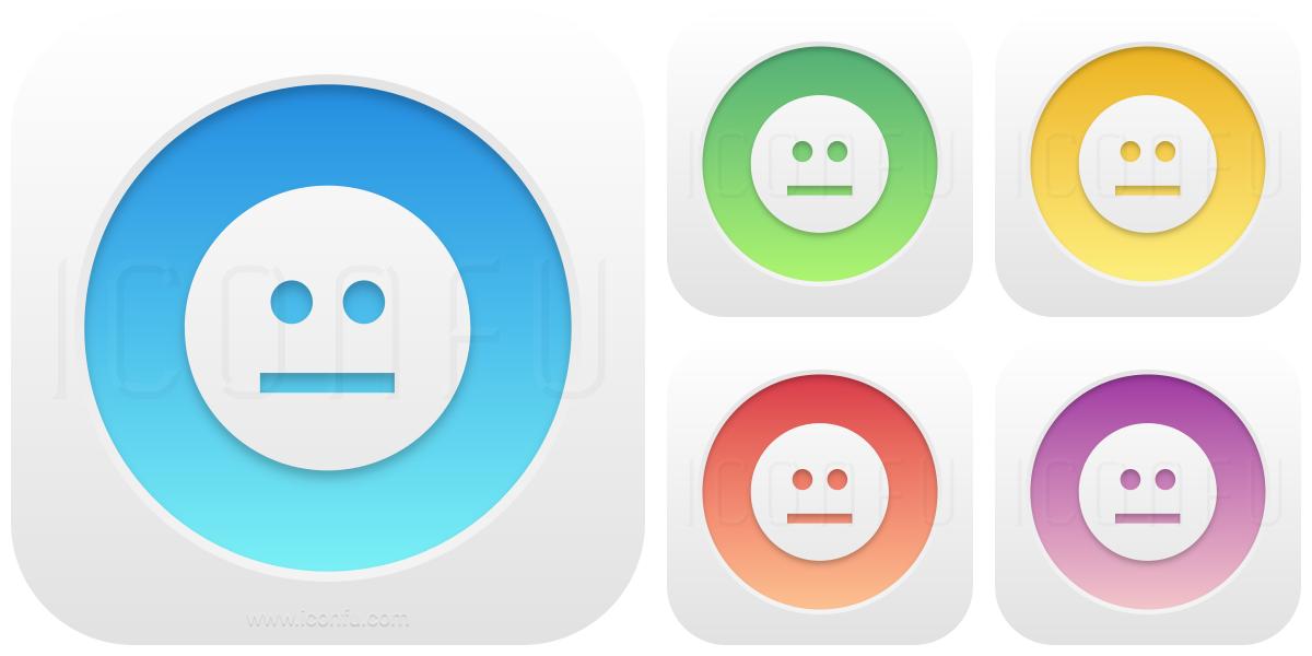 Emoticon Straight Face Icon