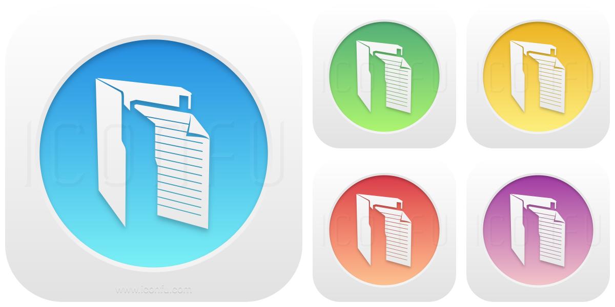 Folder Document Vertical Icon