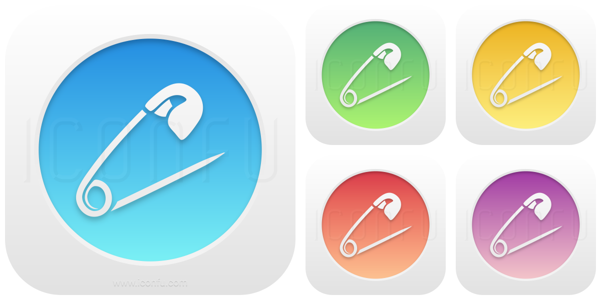Safety Pin Open Icon