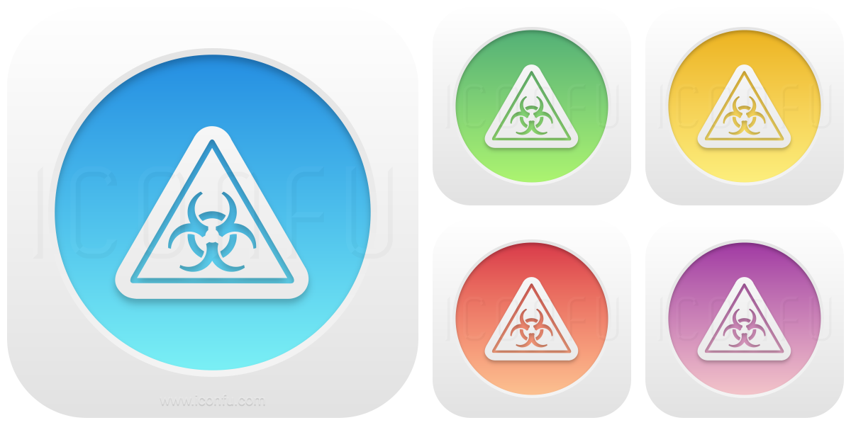 Sign Warning Biohazard Icon