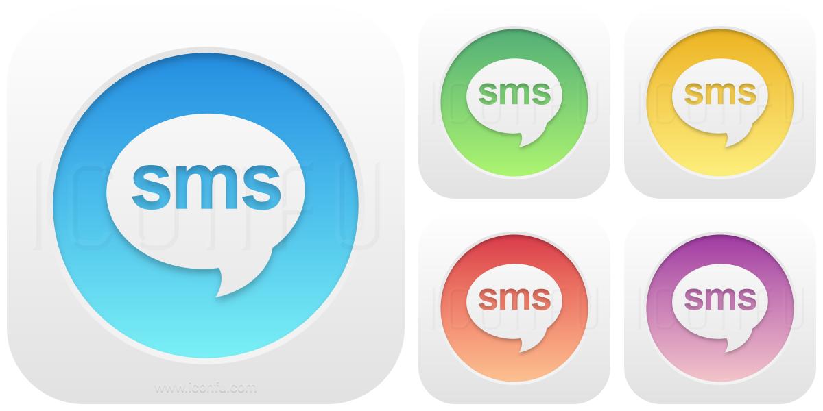 Sms Icon Glow Button Style Iconfu