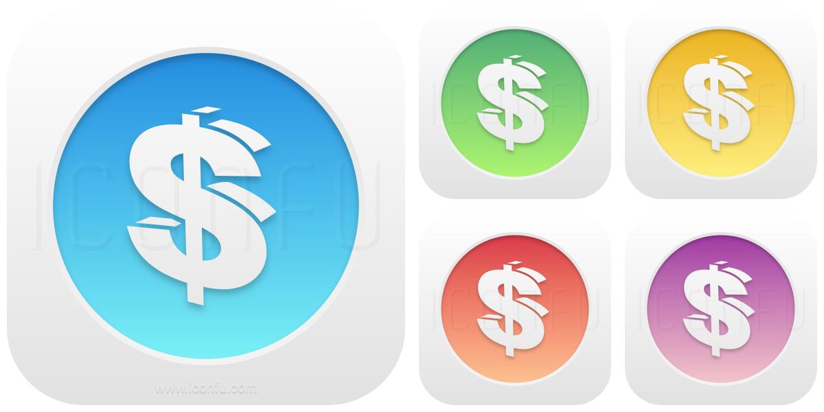 Symbol Dollar Icon