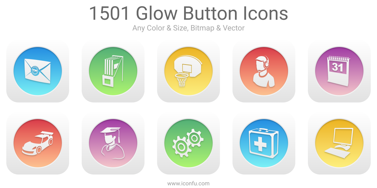 Glow Button Icons