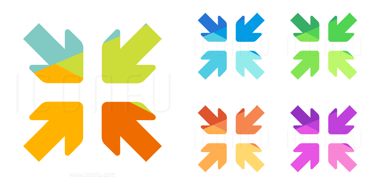Arrows Join Diagonal Icon