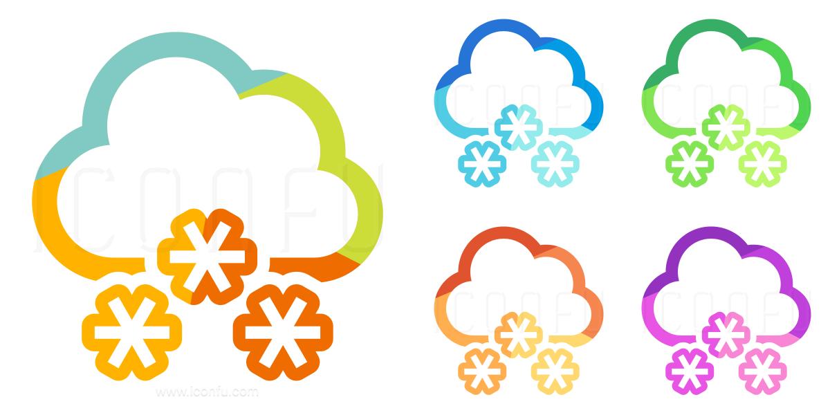 Cloud Snow Icon