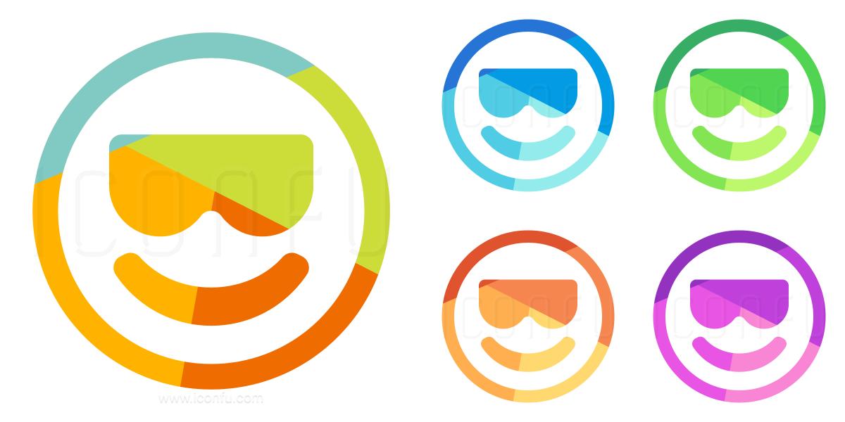 Emoticon Cool Icon