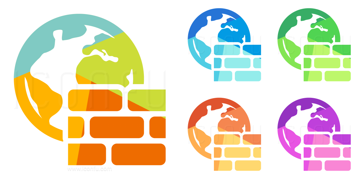 Firewall Earth Icon