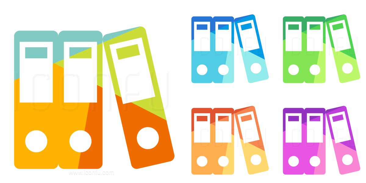Folders Lever Arch Icon