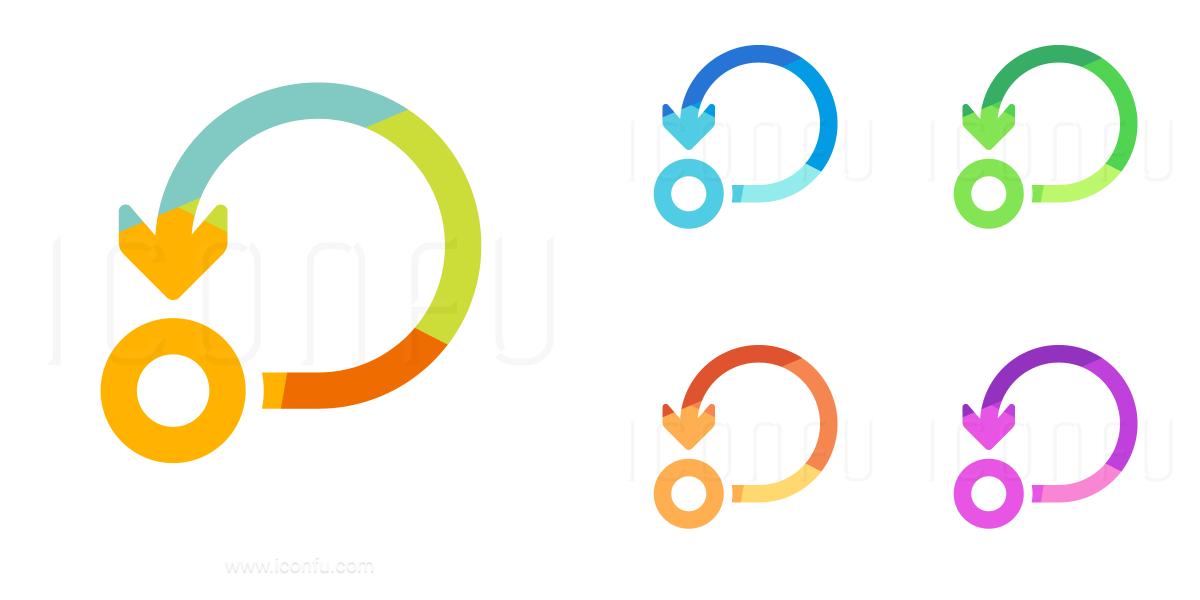 Graph Self Loop Icon