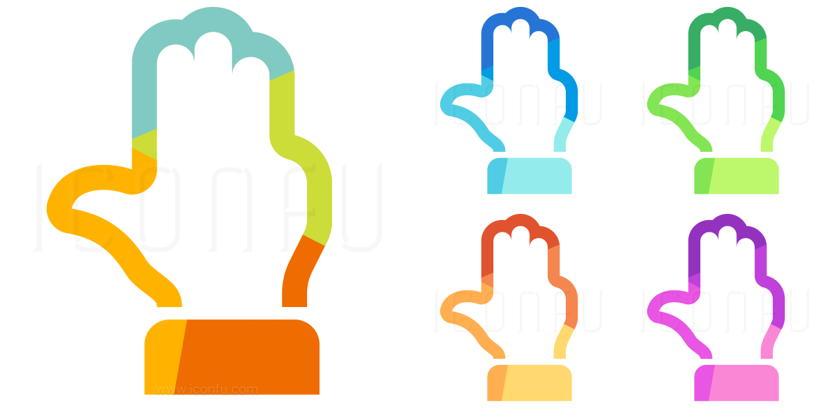 Hand Count Four Icon