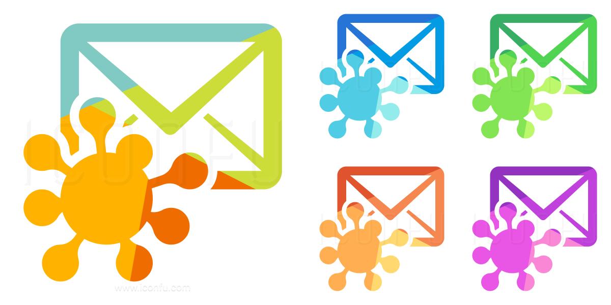 Mail Virus Icon - Colored Style - Iconfu