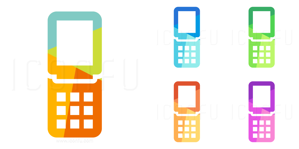 Mobile Phone Folding Icon