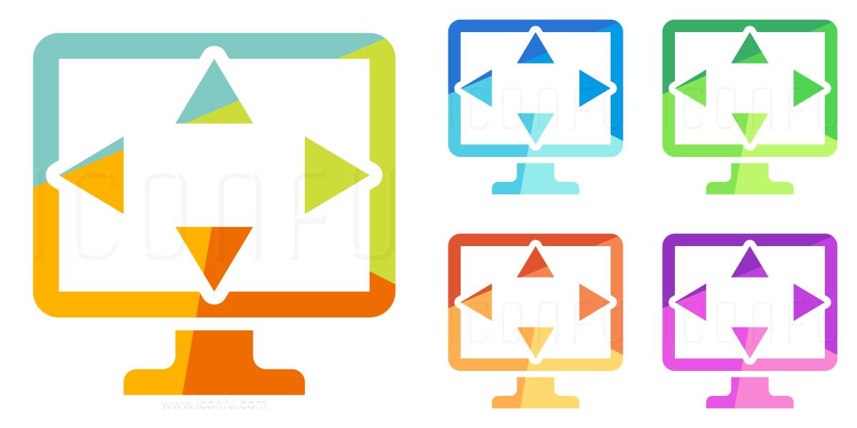 Monitor Size Icon