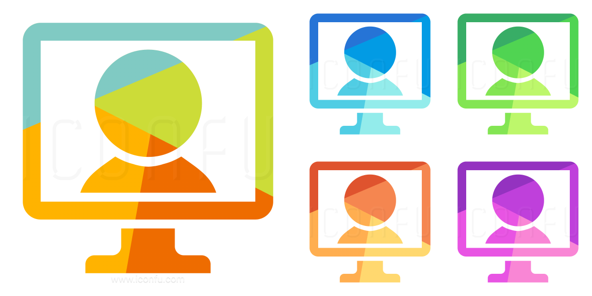Monitor Video Chat Icon