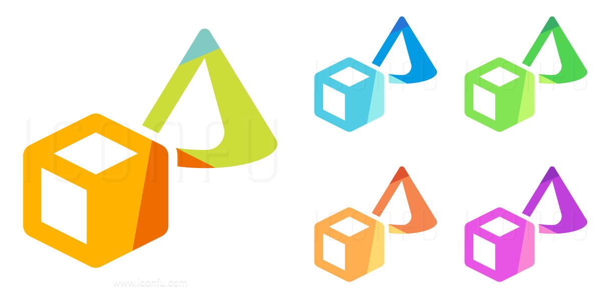 Objects Cube Cone Icon