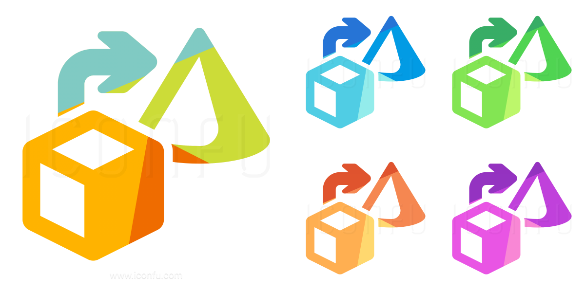 Objects Cube To Cone Icon