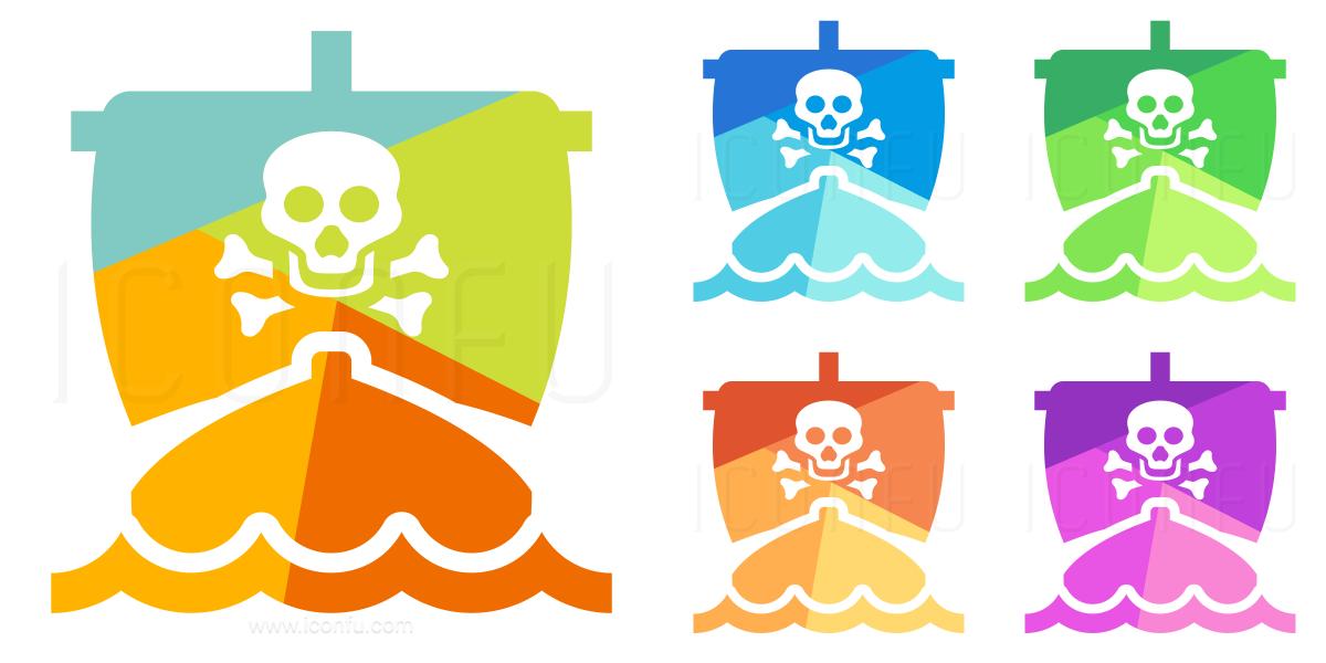 Pirates Ship Icon