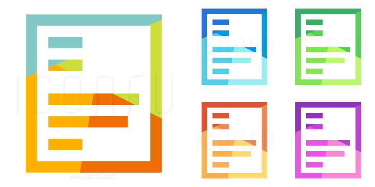 Print Layout Single Icon