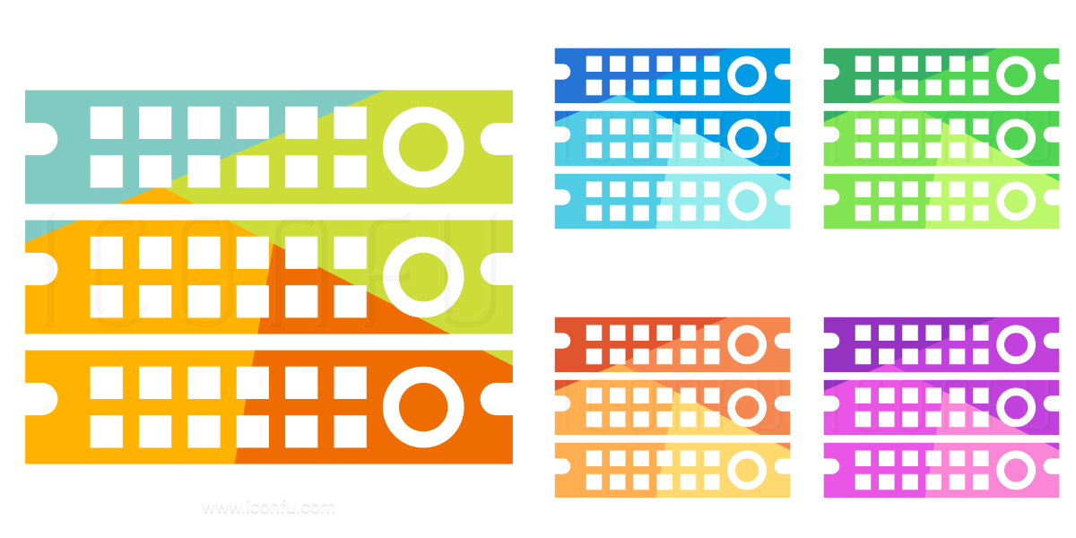 Rack Servers Icon