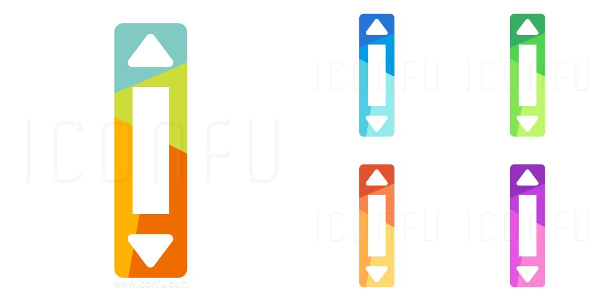 Scroll Bar Vertical Icon