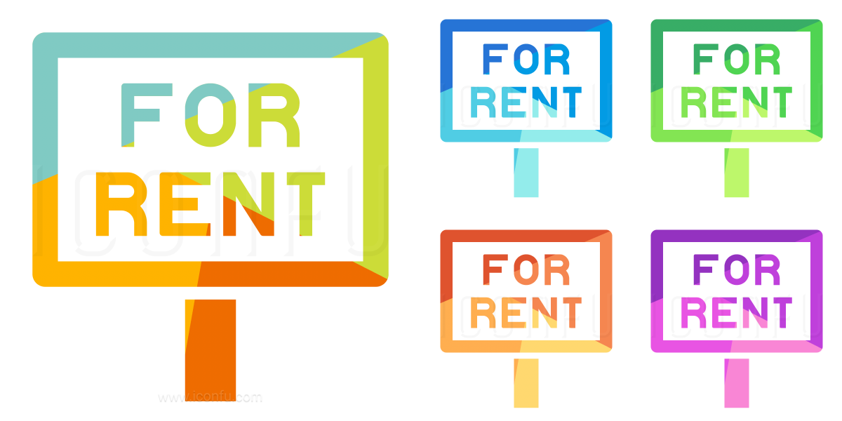 Signboard For Rent Icon