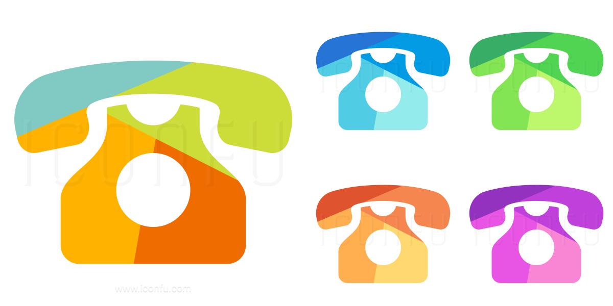 Telephone Retro Icon
