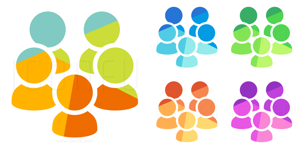 Users Five Icon