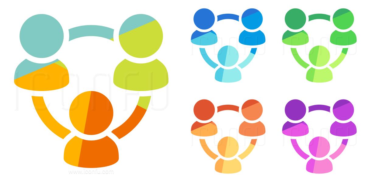 Users Three Relation Icon