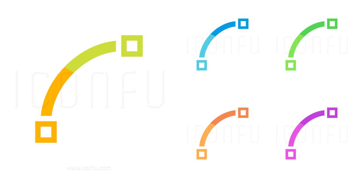 Vector Curve Quadratic Icon