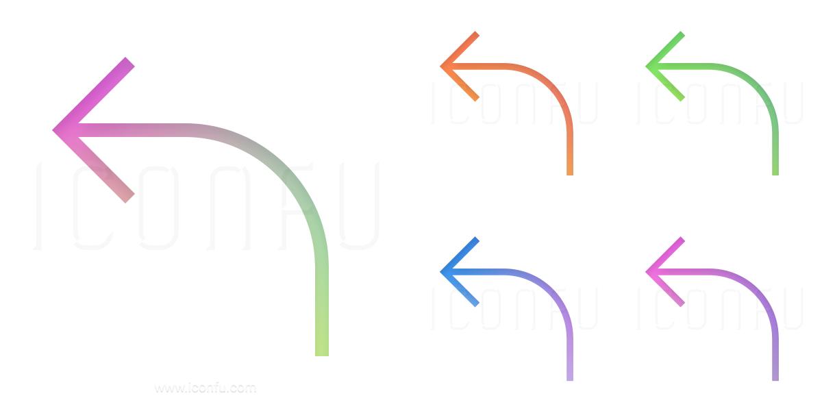 Arrow Curve Left Icon