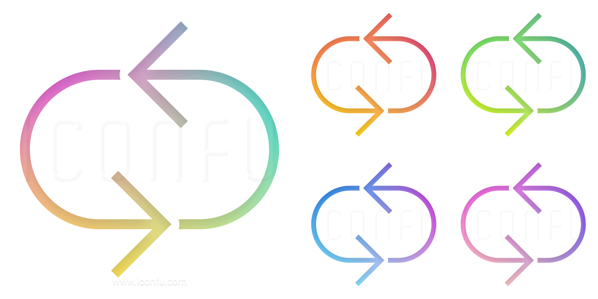 Arrows Oval Circle Icon