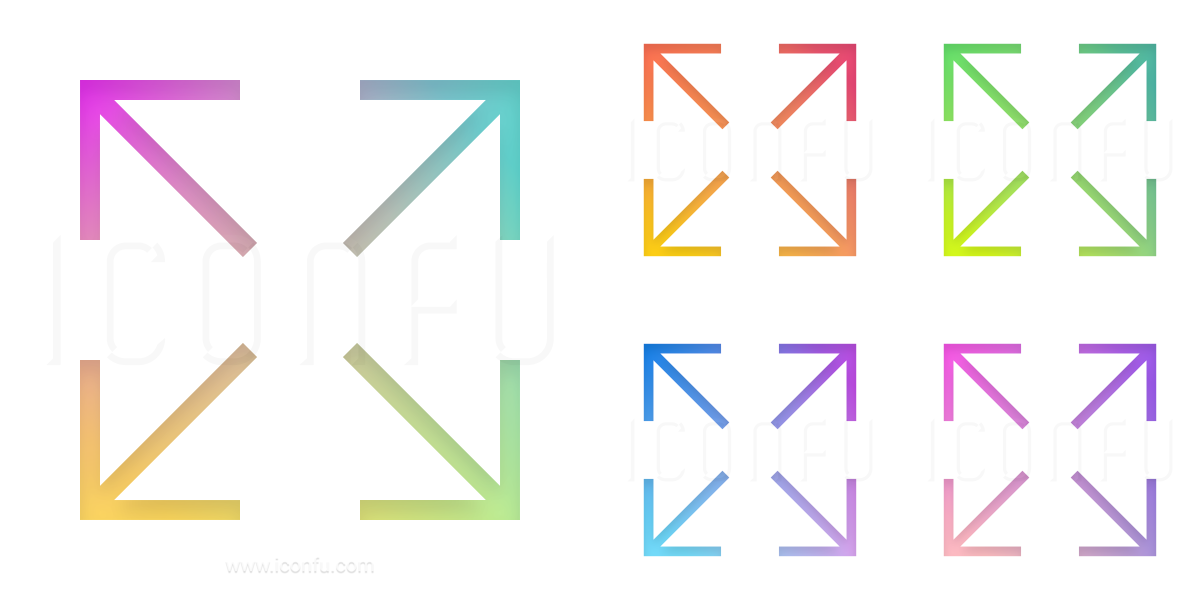 Arrows Spread Diagonal Icon