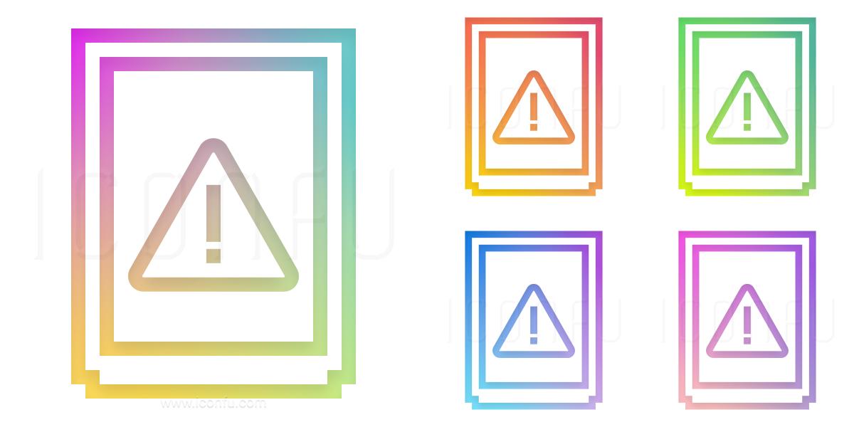 Cabinet Warning Icon