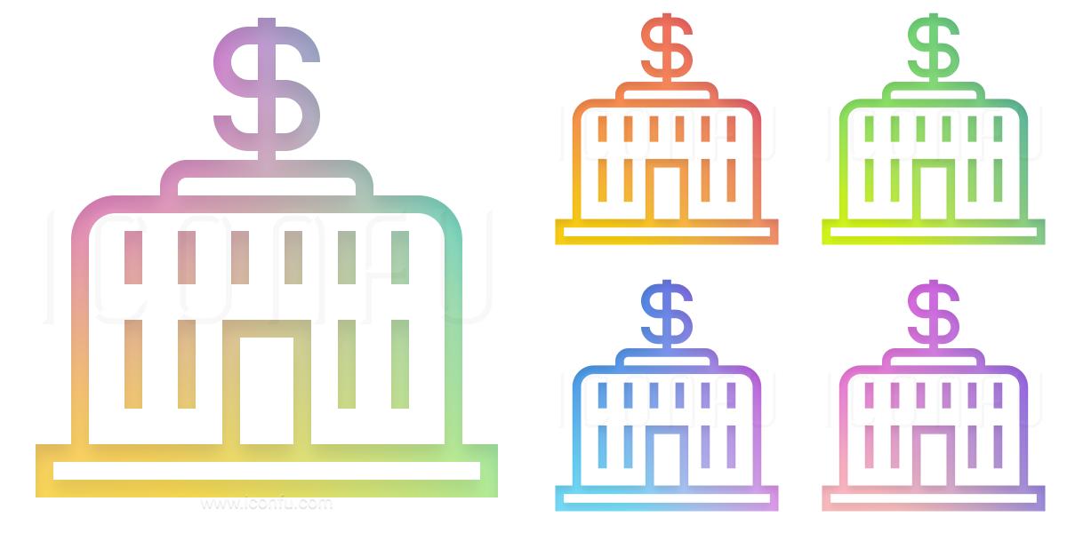 Central Bank Dollar Icon