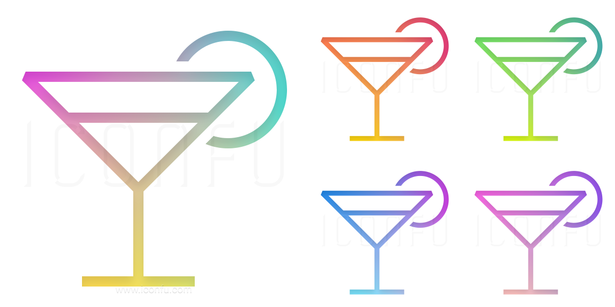 Cocktail Lemon Icon
