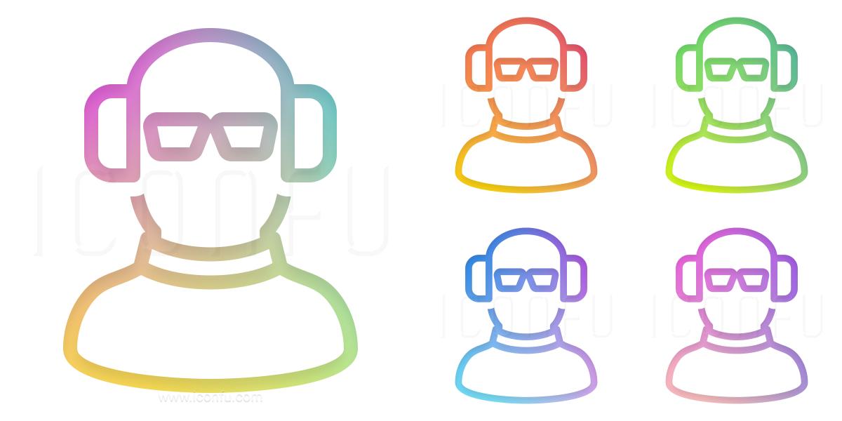 Dude Headphones Icon