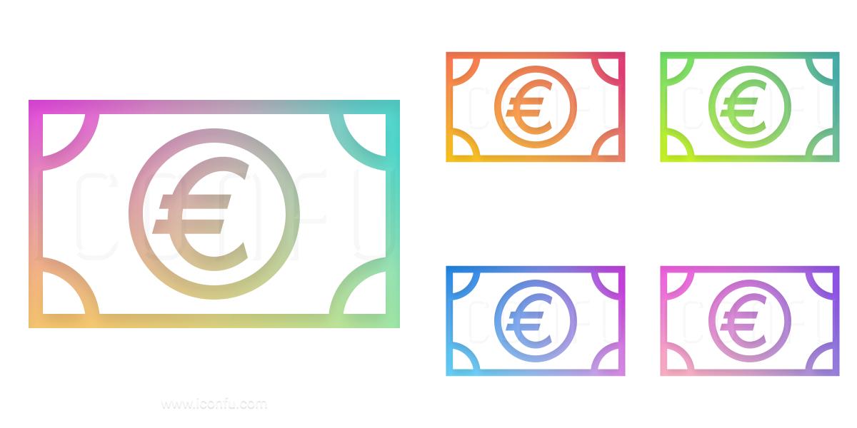 Money Bill Euro Icon