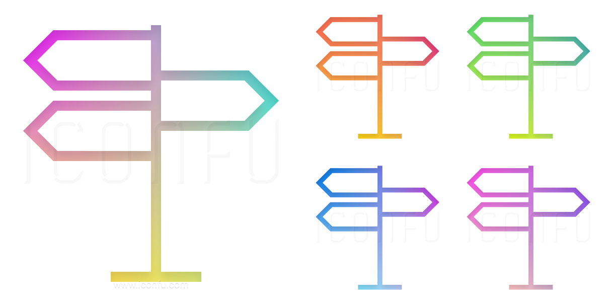 Signpost Three Icon