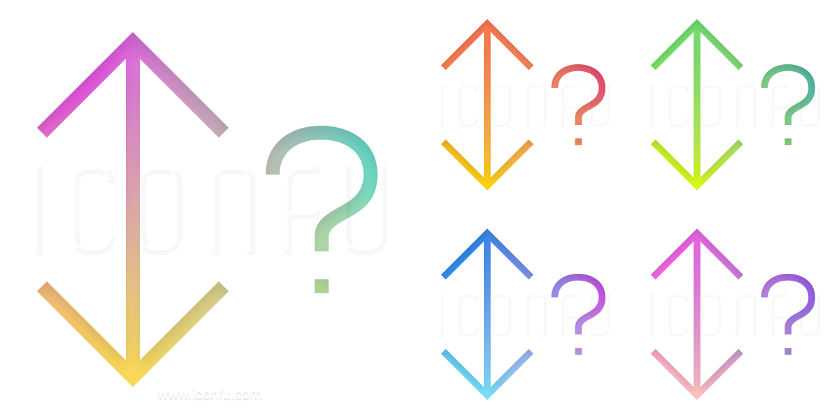 Sort Up Down Question Icon