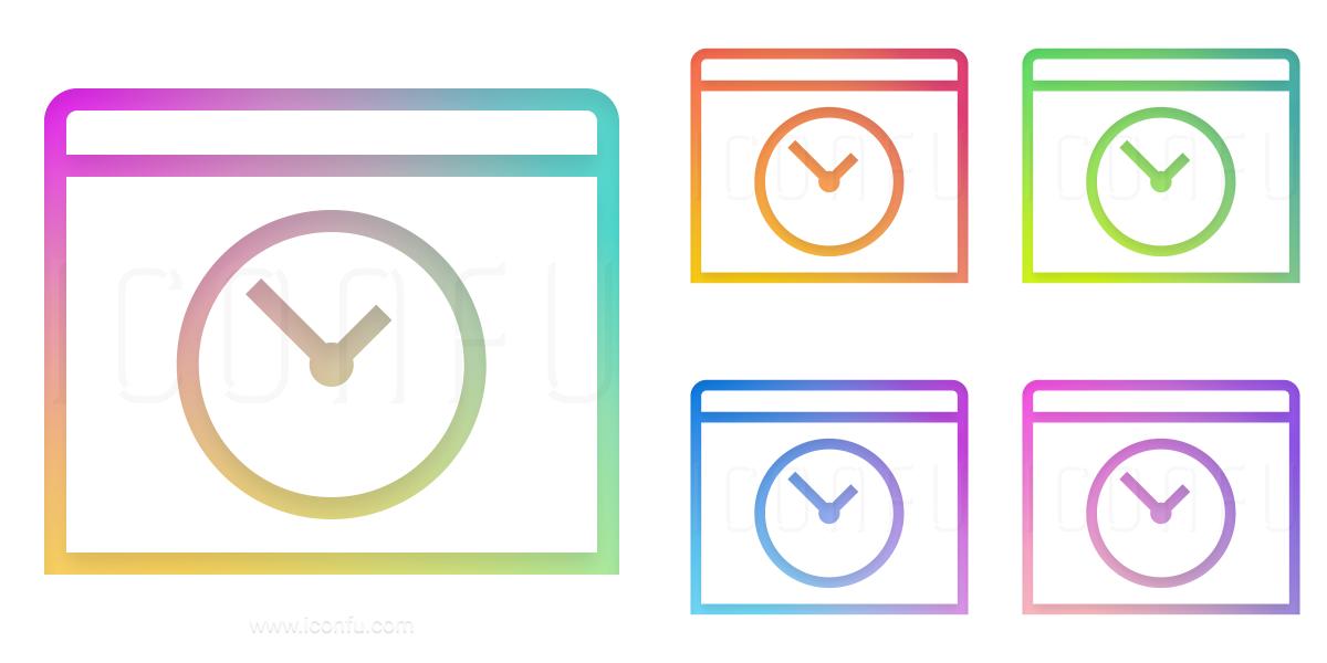 Window Time Icon