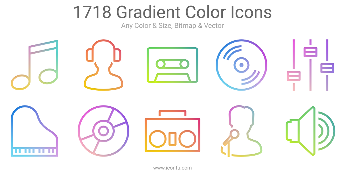 Gradient Color Icons