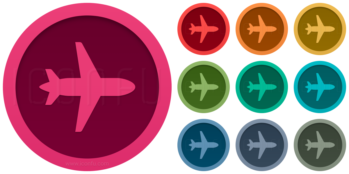 Airplane Top Icon