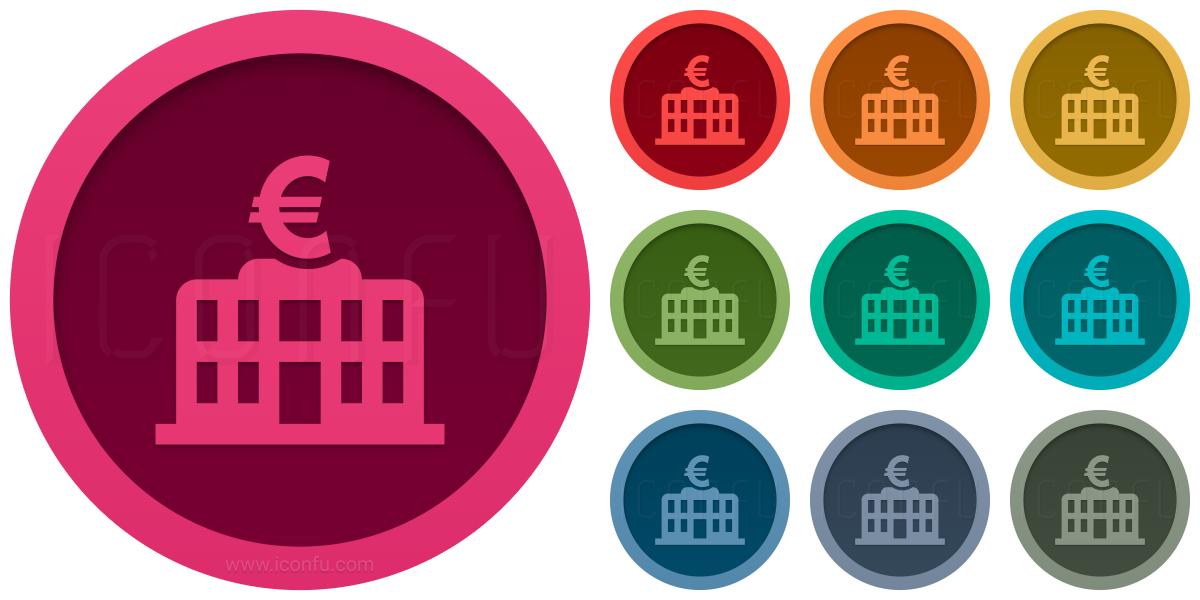 Central Bank Euro Icon