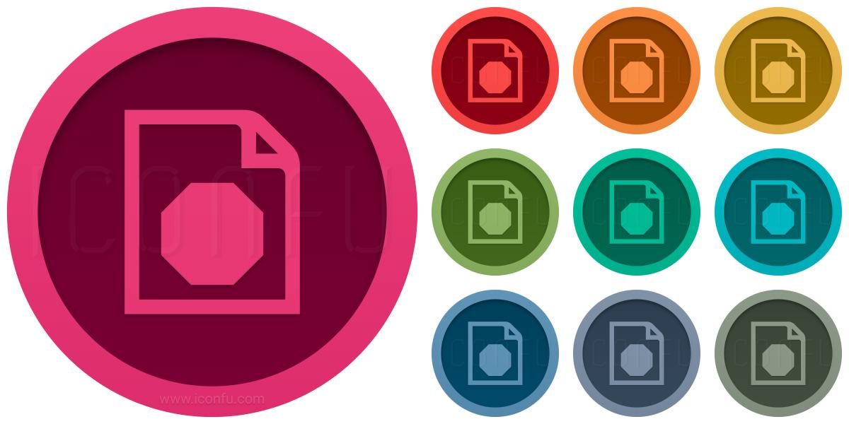Document Stop Icon