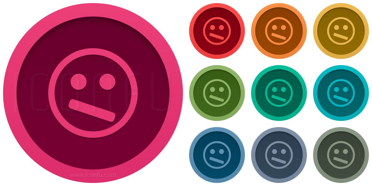 Emoticon Confused Icon